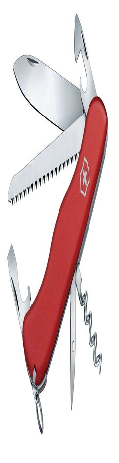 Солдатский нож с фиксатором лезвия RUCKSACK, красный фото