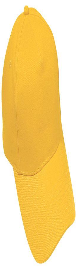 Бейсболка Hit, 5 клиньев, застежка на липучке, желтый фото