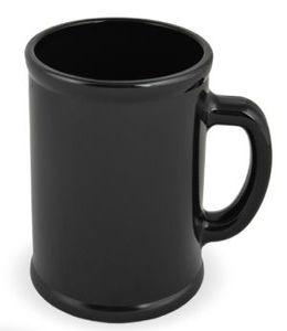 """Кружка """"Радуга""""; черная, D=7,9см, H=9,6см, 300мл; пластик; тампопечать фото"""