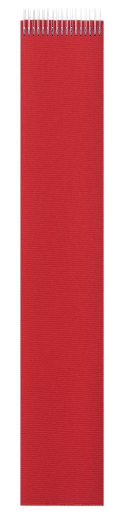 Блокнот Nettuno в линейку, красный фото