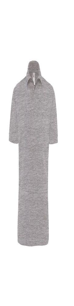 Рубашка поло Heavymill серый меланж фото