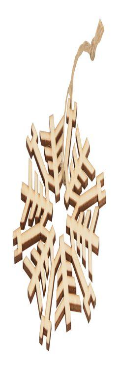 Деревянное украшение «Снежинка» фото