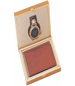 Набор Leather North: портмоне из натуральной кожи, часы поясные фото