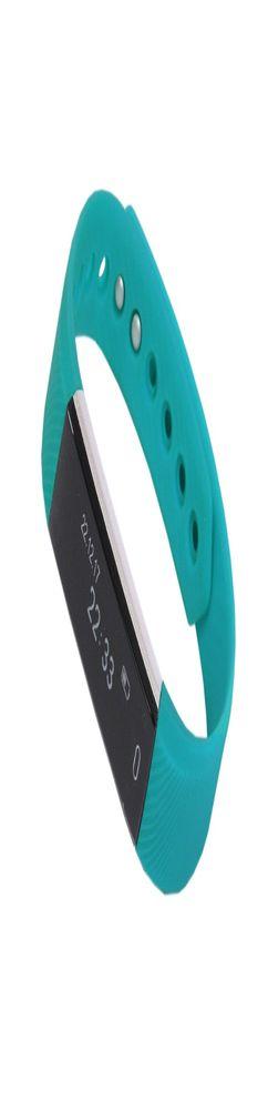 """Смарт браслет (""""умный браслет"""") Portobello Trend, Only, электронный дисплей, браслет-силикон, 240x16x10 мм, бирюзовый фото"""