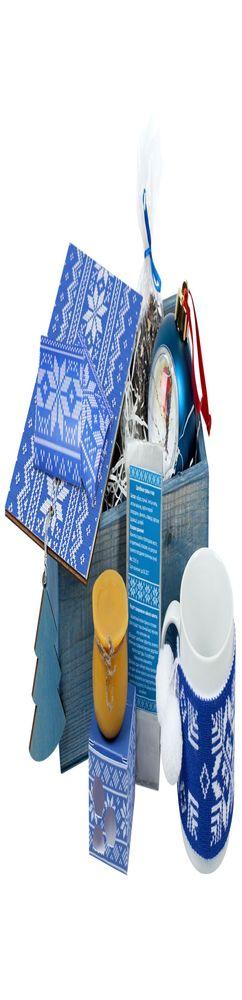 Подарочный новогодний набор «Праздничное чаепитие», синий фото