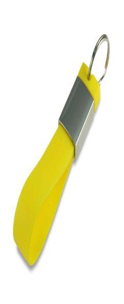 Флешка брелок силиконовая, желтая, 8Гб фото