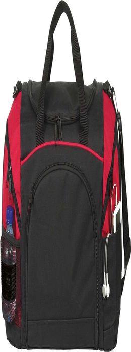 Спортивная сумка Atchison Essential, черная с красным фото