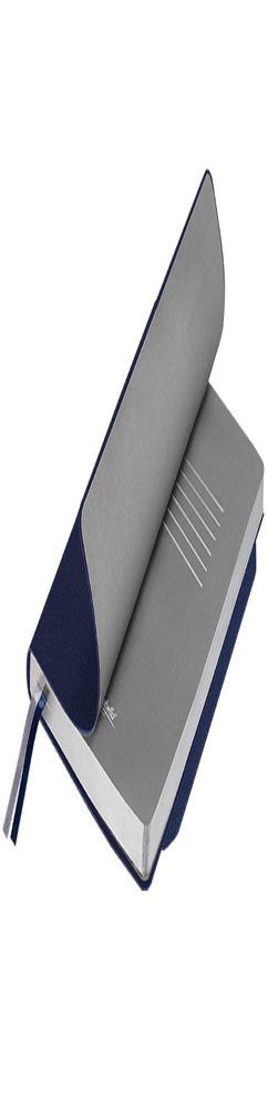 Ежедневник недатированный, Portobello Trend, Blue ocean, 145х210, 256стр, синий/серебряный, гибкая обложка фото
