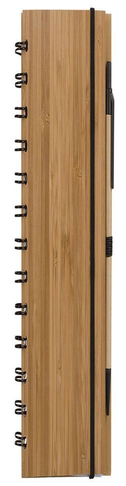 Блокнот на кольцах Bambook с шариковой ручкой фото