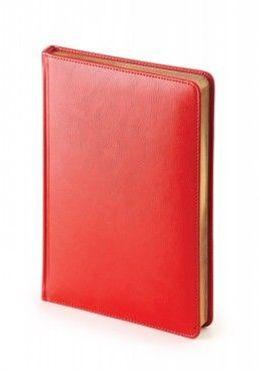 Ежедневник датированный Sidney Nebraska, А5, белый блок, золотой обрез, ляссе фото