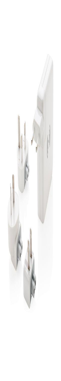 Адаптер для путешествий с бепроводной зарядкой, белый фото