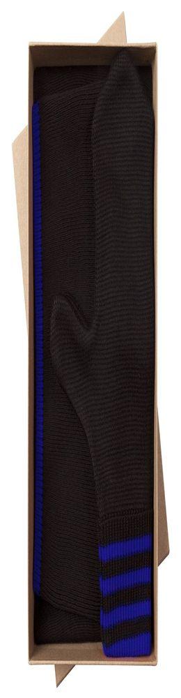 Набор Best: шапка, шарф и варежки, черно-синий фото
