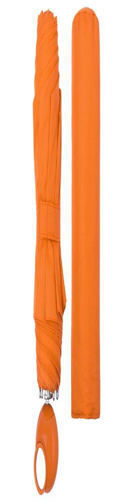Зонт складной Floyd с кольцом, оранжевый фото