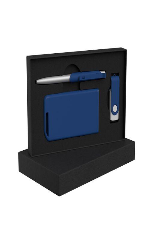 """Набор ручка """"Skil"""" + флеш-карта """"Vostok"""" 16Гб + зарядное устройство """"Theta"""" 4000 mAh в футляре фото"""