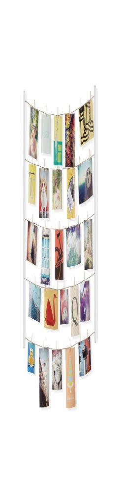 Панно с зажимами для 40 фотографий hangit белое фото