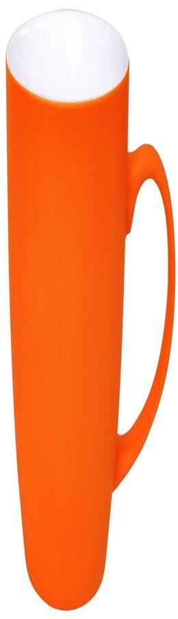 Кружка Sweet с прорезиненным покрытием, оранжевый, 350 мл фото