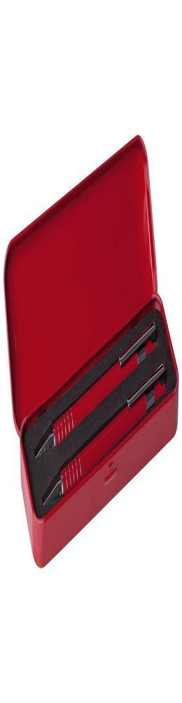 Набор Doublet: ручка и карандаш, красный фото