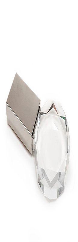 Флешка Кристалл круглый, металлическая со стеклянной вставкой, серебристая, 8Гб фото