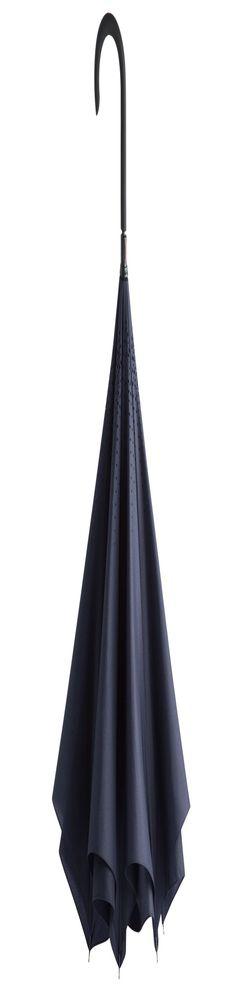 Зонт наоборот Unit Style, трость, темно-синий фото