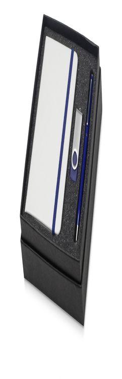 Подарочный набор Reporter Plus с флешкой, ручкой и блокнотом А6 фото