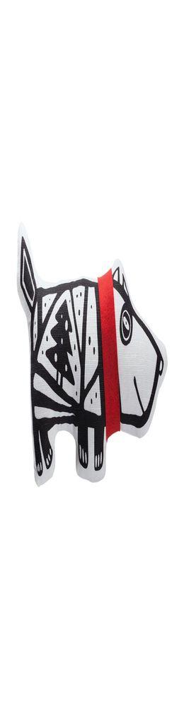 Игрушка «Собака в шарфе», малая, белая с красным фото