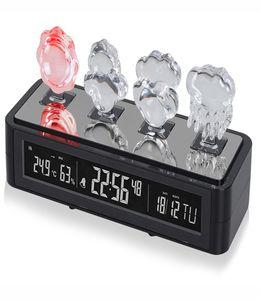 Погодная станция: часы с будильником, дата, термометр, гигрометр с подсветкой фото
