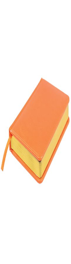 Ежедневник датированный Joy, А5,  оранжевый, белый блок, золотой обрез фото