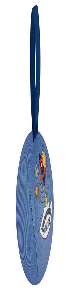 Шарик-антистресс с пожеланием «Ракета», синий фото