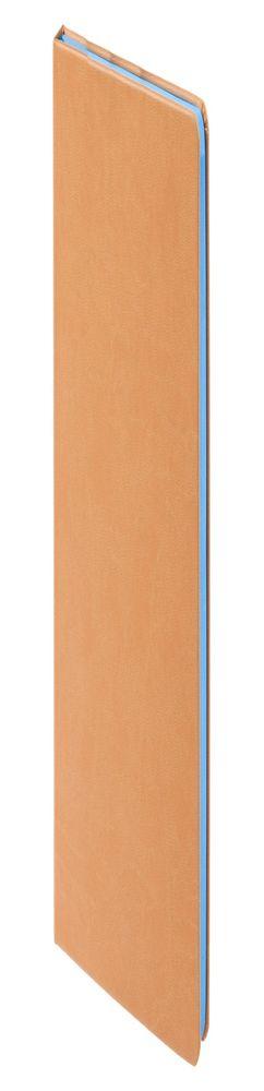 Ежедневник Blues недатированный, коричневый с голубым фото