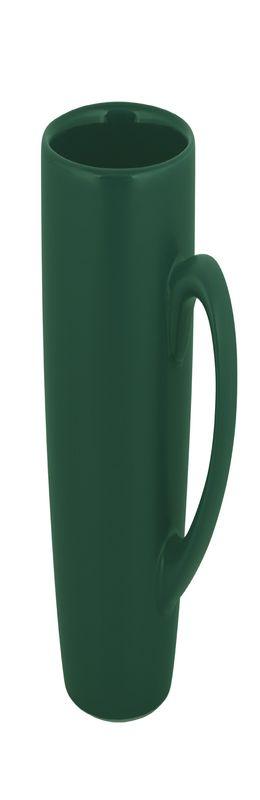 Кружка керамическая, матовая снаружи, глянцевая внутри, темно-зеленая фото