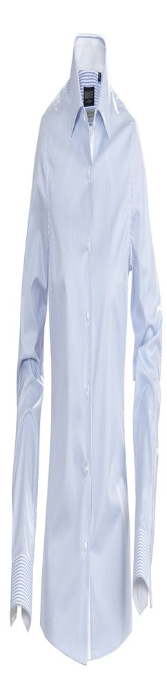 Рубашка женская в полоску RENO LADIES, голубая фото