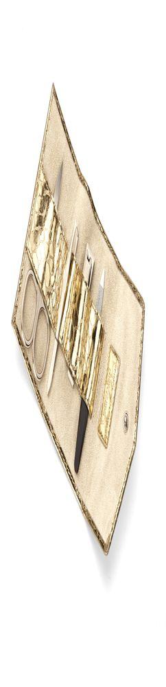 Маникюрный набор SNAKESKIN, золотистый фото