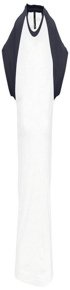 Футболка женская MILKY 150, белая с темно-cиним фото