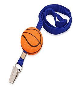 Ремешок на шею с антистрессом «Баскетбол» фото