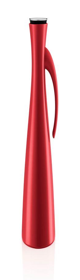 Высокий термокувшин vacuum 1 л красный фото