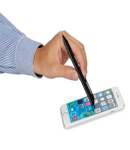 Ручка-стилус шариковая Fiber, черный фото