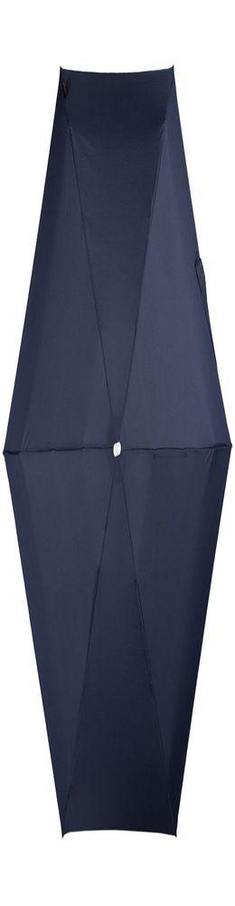 Складной зонт Alu Drop, 3 сложения, механический, синий фото