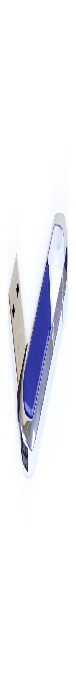 Флешка Карабин, пластиковая с металлической вставкой, синяя, 8Гб фото
