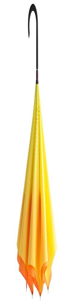 Зонт наоборот Unit Style, трость, оранжево-желтый фото