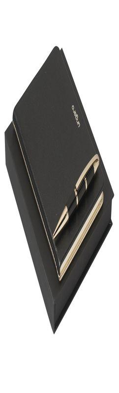 Ungaro Набор: записная книжка, ручка шариковая, черный фото