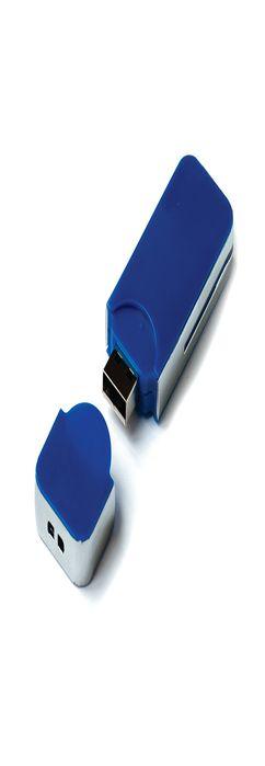 Флешка Промо плюс прямоугольная, пластиковая, синяя, 16Гб фото