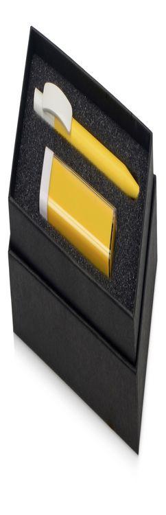 Подарочный набор White top с ручкой и зарядным устройством фото