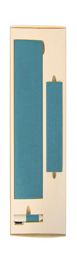 Набор подарочный PROVENCE: универсальное зарядное устройство, блокнот, ручка; голубой фото