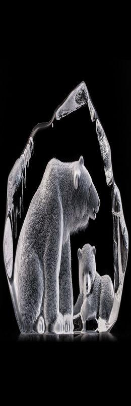 """Скульптура """"Медведь с медвежонком"""" фото"""
