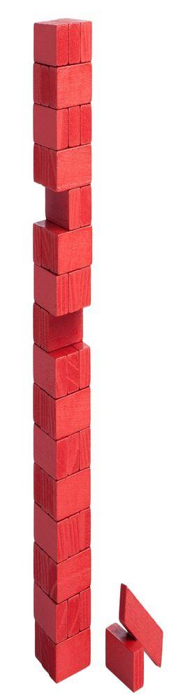Игра «Деревянная башня мини», красная фото