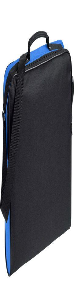 Сумка для документов Unit Metier, черная с синей отделкой фото