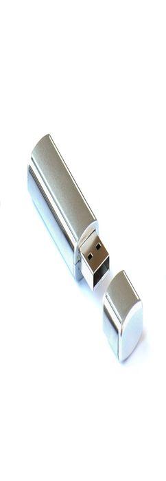 Флешка Промо стиль прямоугольная, пластиковая с металлической вставкой, серебристая, 8Гб фото
