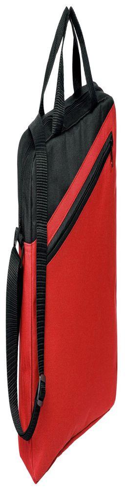 Конференц-сумка Unit Diagonal, красно-черная фото