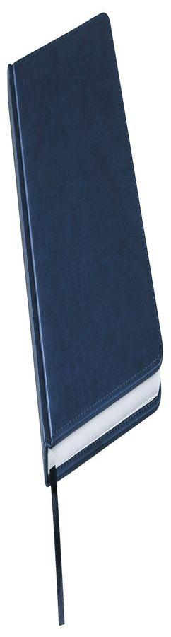 Ежедневник недатированный Bliss, А5,  темно-синий, белый блок, без обреза фото