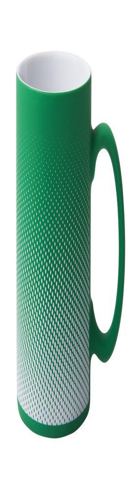 Кружка Dot с покрытием софт-тач и гравировкой, зеленая фото